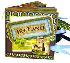 Scrapbooking Layouts ireland   Ireland Scrapbook - Paper Bag Travel Album