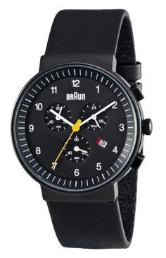 Braun Herren-Armbanduhr XL BN0035BKBKG Chronograph Leder | Your #1 Source for Watches and Accessories
