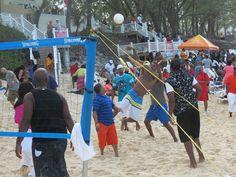 Beach Volleyball during Super Bowl weekend.