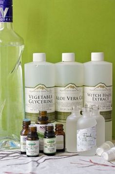 Make your own natural body sprays with simple ingredients and essential oils.