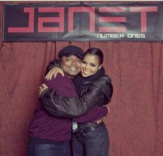 Brother & Sister love!!! So adorable!!!---Randy & Janet Jackson