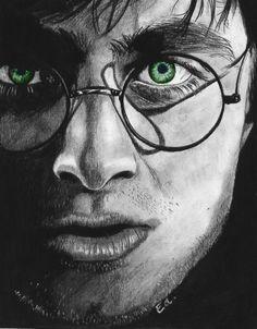Harry Potter by manueee.deviantar… Harry Potter by manueee. Fanart Harry Potter, Harry Potter Kunst, Harry Potter Drawings Easy, Female Harry Potter, Harry Potter Sketch, Harry Potter Pictures, Harry Potter Books, Harry Potter World, Realistic Drawings
