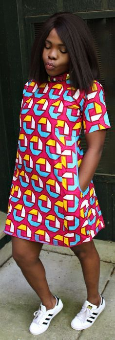 Free Ankara Shirt Dress. Perfect Free Dress for any occasion. Can be dressed up or down. Ankara | Dutch wax | Kente | Kitenge | Dashiki | African print dress | African fashion | African women dresses | African prints | Nigerian style | Ghanaian fashion | Senegal fashion | Kenya fashion | Nigerian fashion | Ankara crop top (affiliate)