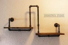 Pipe Shelf // Wall or CORNER by SmokestackStudios on Etsy, $80.00