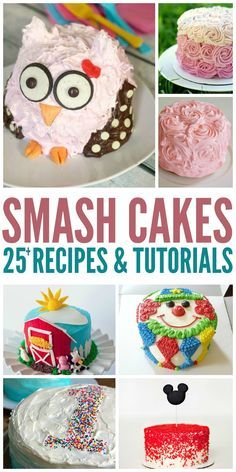 25+ Smash Cake Recipes & Tutorials to help you plan a smashing first birthday party for the special baby girl or baby boy!