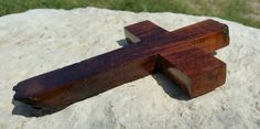 Rustic handmade wood cross made from Texas honey mesquite burl, Christian decor, wall decor, OOAK, live edge by JackRabbitFlats on Etsy Mesquite Wood, Christian Decor, Tung Oil, Wood Crosses, Diy Projects To Try, Etsy Store, Angels, Honey, Texas