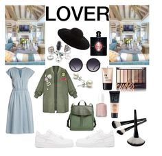 """""""Army mom"""" by lauralydix on Polyvore featuring MASSCOB, NIKE, Skagen, Alice + Olivia, Charlotte Russe, Essie, Maybelline, Yves Saint Laurent and Eugenia Kim"""