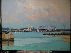 John Smith | Gallery City Scapes, John Smith, Artist Gallery, South Africa, Boats, Mixed Media, Paintings, Oil, Ships