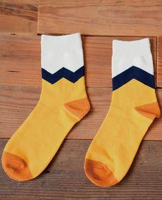men cotton contrast color socks
