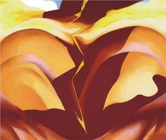 Black Place IV - Georgia O'Keeffe Estilo: Precisionismo Series: Black Place Genero: pintura abstracta