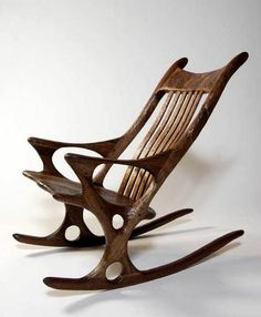 Derek Hennigar, wooden rocking chair