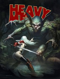 "Hey guys, I'm submitting another design for the ""Heavy Metal"" magazine cover art contest. Fille Heavy Metal, Arte Heavy Metal, Heavy Metal Comic, Heavy Metal 1981, Metal Magazine, Magazine Art, Dark Fantasy, Fantasy Art, Fantasy Demon"