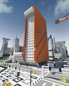 A Building in the Ono City, Minecraft Minecraft City, Skyscraper, Multi Story Building, Skyscrapers