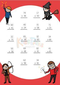 Math Worksheets – 2 Digit by 2 Digit Multiplication 2nd Grade Math Worksheets, Printable Math Worksheets, Free Printable, Math For Kids, Fun Math, Math Drills, Math Sheets, Math Graphic Organizers, Math Multiplication