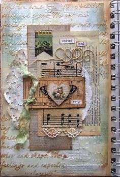 Hands to Work... Heart to Love: United And True Art Journal Page