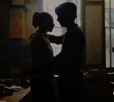 """betty-and-jughead: """"""""Anticipating Betty & Jughead's first hug. In the Blue & Gold room. how apt. and looks like such a good one too. Two more days to episode 9. """" """""""