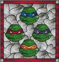 Teenage Mutant Ninja Turtle stained glass