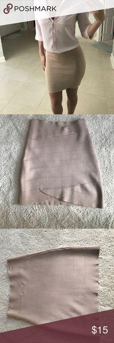Tan Bandage Skirt M Freeway brand Tan Bandage Skirt size M. In great condition freeway Skirts Mini