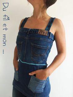 Recyclage de jeans by Du fil et mon ...