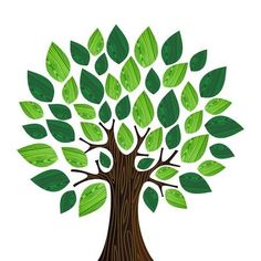Green environment concept tree illustration made with wooden leaves isolated over white. Vector file layered for easy manipulation and custom coloring. Green Environment, Environment Concept, Tree Drawing Simple, Simple Tree, Leaf Illustration, Tree Quilt, Tree Designs, Free Vector Art, Vector File