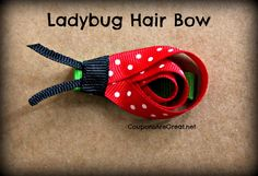 Make a great ladybug hair bow after following this step by step tutorial.