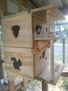 25 Squirrel Houses Plans Squirrel Houses Plans - Custom squirrel Houses Squirrels in their squirrel house Backyard Squirrels How to Build a Squirrel House Wren House Plan New . Squirrel Feeder Diy, Squirrel Home, Flying Squirrel, Baby Squirrel, Bird House Feeder, Bird Feeders, Wood Projects, Projects To Try, Woodworking For Kids