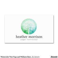 Cartão de visita da ioga e do bem-estar da árvore