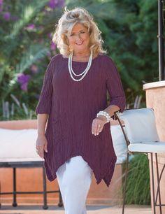 Grizas purple silk/linen pocket top