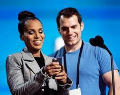 Love Kerry! Here she is with Henry Cavill at the 2016 Oscar's rehearsals.
