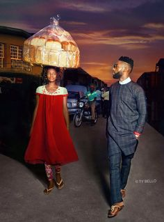 Nigerian Bread Seller Accidentally Photobombs Popstar And Gets Modeling Contract via BoredPanda