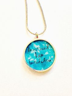 novelty keyring or necklace, humorous keyring keychain necklace, Weird keyring,stocking filler, gift under 5, teen jewelery, gift for girls - pinned by pin4etsy.com