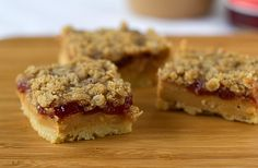 Peanut Butter and Jelly Pie Bars by Brown Eyed Baker