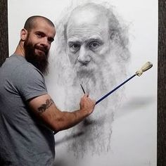Art Prices, Art Auction Records, Art for sale - Search free Charcoal Portraits, Charcoal Art, Charcoal Drawing, Figure Painting, Painting & Drawing, Cesar Santos, Hyperrealistic Drawing, Wow Art, Amazing Drawings