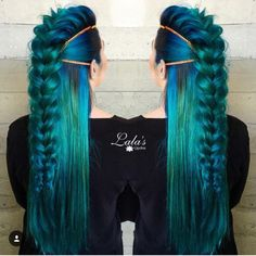 Blue green teal hair ♡