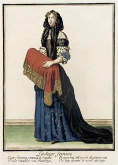 Baroque Fashion, French Fashion, Vintage Fashion, Mme Bovary, Mode Baroque, 17th Century Fashion, European American, Midwifery, Fashion Plates