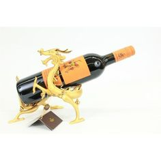 ON SALE !!! 24K Real Gold Plated Bronze Golden Dragon Wine Holder Sculpture Figurine Figure...This Is A Real Bronze Coated In 24K Real Gold. Each Sculpture Is Crafted By Hand And Electroplated With A Secret Technique. You Can See The Great Detail And Craftsmanship. It Takes 3-6 Months And More Than 25 Steps To Complete One Piece, Making Each One Unique And Meaningful. The Sculpture Comes In A Beautiful Gift Box Display And Is The Perfect Way To Show Your Everlasting Love For Your Significant…