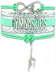 Super cute Love Gymnastics cord bracelet.