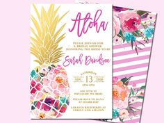 Ananas bruids douche uitnodiging, tropische Aloha bruids douche uitnodiging, Luau uitnodiging, Hawaiian uitnodiging, afdrukbare bestand alleen door SunnyDaysCreation op Etsy https://www.etsy.com/nl/listing/398876633/ananas-bruids-douche-uitnodiging