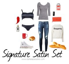 A fashion look from November 2015 featuring striped tee, cream top and blue skinny jeans. Browse and shop related looks. Cream Tops, Blue Skinny Jeans, Charlotte Tilbury, Adriano Goldschmied, Striped Tee, Bottega Veneta, Yves Saint Laurent, Converse, Fashion Looks