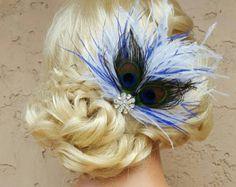 Wedding Fascinator Bridal Feather Hair Clip by kathyjohnson3