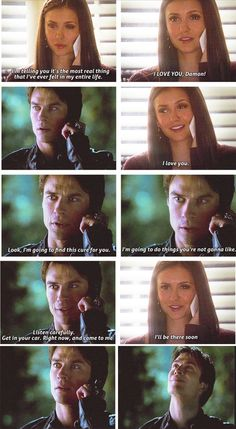 elena and damon- Totally cheering them on!