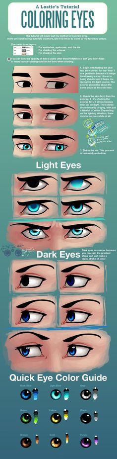 A Lostie's Tutorial - Coloring Eyes by lostie815 on deviantART