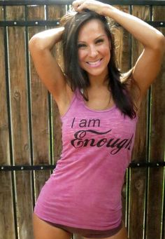 I Am Enough Burnout Workout Tank Size by FiredaughterClothing, $30.00