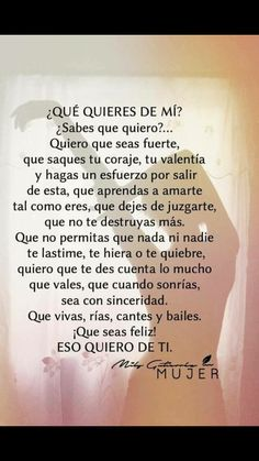Autoayuda y Superacion Personal Spanish Inspirational Quotes, Spanish Quotes, Quotes To Live By, Me Quotes, Famous Quotes, Quotes En Espanol, Postive Quotes, Motivational Phrases, Verse