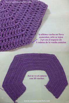 Como tejer un saco, campera, cardigan o chambrita a crochet o ganchillo desde el canesu04 avec tuto photos http://www.mundocrochet.com/como-tejer-un-saco-campera-cardigan-o-chambrita-a-crochet-paso-a-paso-1o-parte-como-tejer-el-canesu/?utm_source=feedburner&utm_medium=email&utm_campaign=Feed%3A+MundoCrochet+%28Mundo+Crochet%29