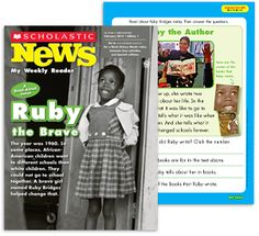 I used Scholastic News Readers in my classroom this past school year.  It is a great reader with colorful pictures and comprehension questions.  The readers help the student meet the informational text CCSS standards.  Each reader includes an additional activity sheet.