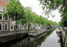 Pretty Canal, The Hague, South Holland, The Netherlands ~ One of the biggest differences between the Hague and Amsterdam is the number of canals.