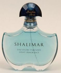 Shalimar blue perfume bottle Know your fashion history: Perfume perfection