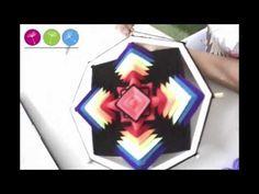 Mandala Rosa Bordado - YouTube