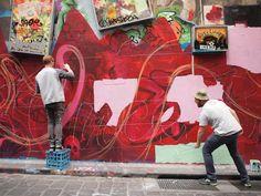 Streetart: Rone x Sofles x Meggs x Wonderlust x Roachi x Numskull New Mural In Melbourne/Australia